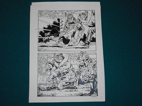 Paolo Piffarerio Luigi Corteggi Original Comic Art - Tavola # 65 Alan Ford # 76