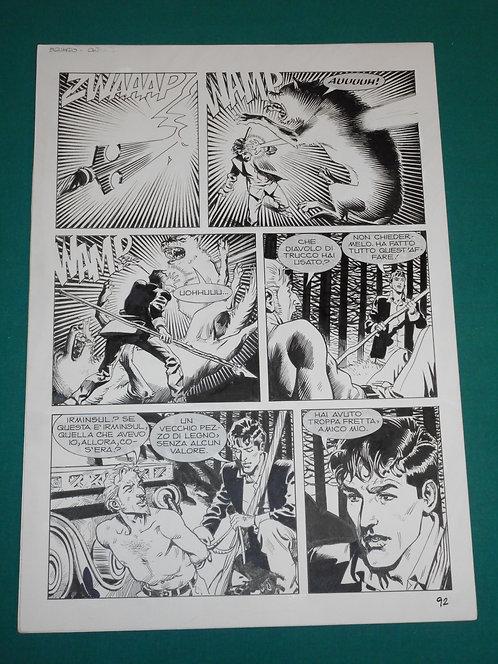 "DANIELE BIGLIARDO Tavola originale # 92 Dylan Dog # 290 ""L'erede Oscuro"" 2010"
