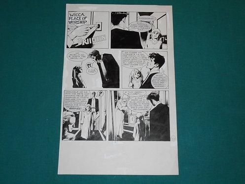 CORRADO ROI Tavola originale IL MOSAICO DELL'ORRORE pubblicata su DYLAN DOG # 92