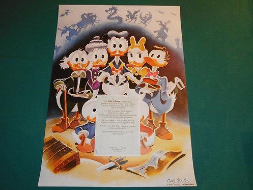 FAMILY PORTRAIT riproduzione olio Carl Barks 50x70 cm + certificato Walt Disney