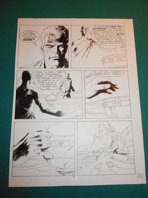 CORRADO ROI Tavola originale pubblicata pag.20 Martin Mystère Speciale # 90 1989
