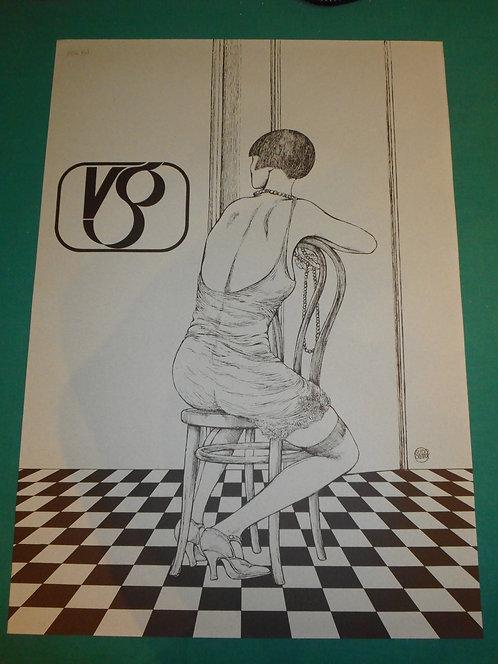 GUIDO CREPAX, VALENTINA per Video Gruppo, litografia gigante 64x45,5 cm. firmata