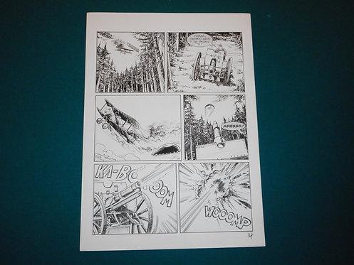 Luca RAIMONDO - tavola originale # 14 Brad Barron # 5 Bonelli Original Comic art