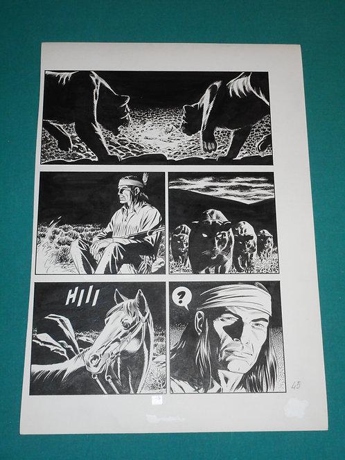 FABIO CIVITELLI Tavola originale GLI SPIRITI DELLA NOTTE pubblicata su TEX # 348