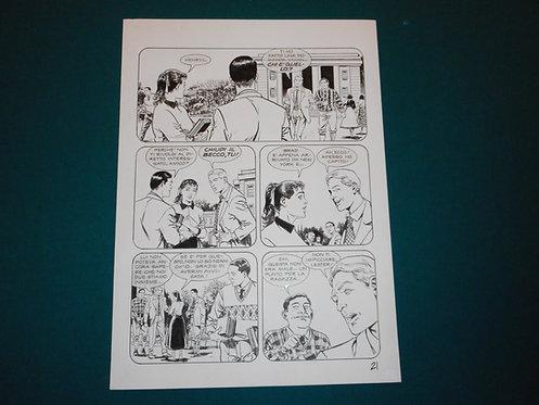 Luca RAIMONDO - tavola originale # 21 Brad Barron # 5 Bonelli Original Comic art