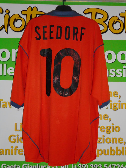 Maglia INTER # 10 C. SEEDORF Serie A 2000 / 2001 match worn shirt NIKE PIRELLI