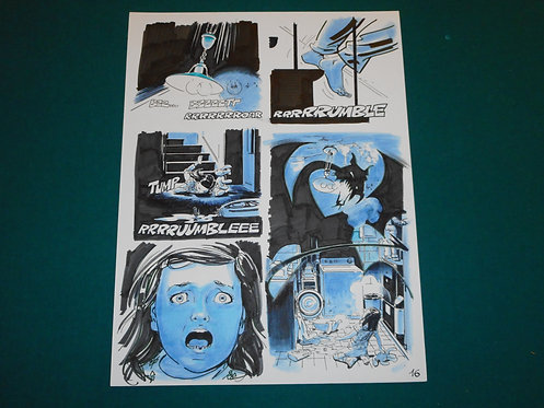 Bruno BRINDISI Tavola originale Original Comic Art # 16 Dylan Dog # 393 Bonelli