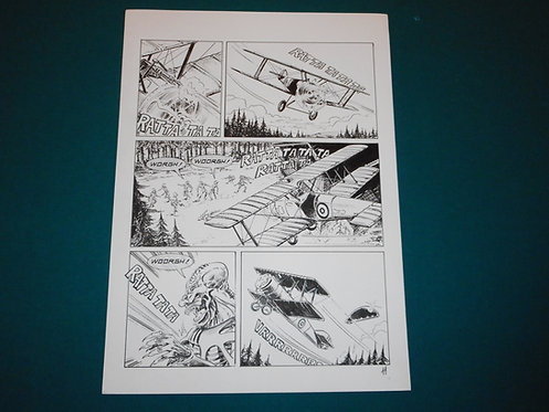 Luca RAIMONDO - tavola originale # 11 Brad Barron # 5 Bonelli Original Comic art
