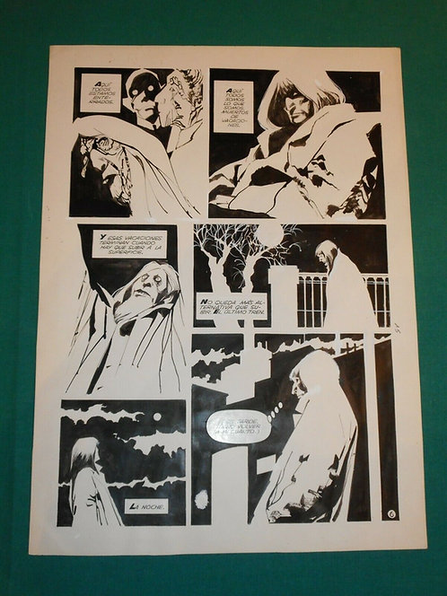 """ALBERTO BRECCIA tavola originale """"Recordando al señor K"""" Ediciones Record 1981"""