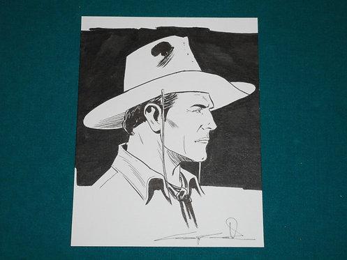 Giuseppe CANDITA Original Comic Art - Illustrazione originale TEX 12,8x16,5 cm.