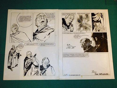 ALBERTO BRECCIA Coppia Tavole originali per AGENTE NESSUNO edita su Skorpio 1977