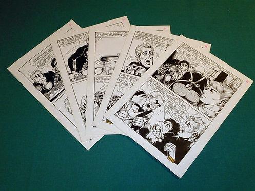 MAGNUS rarissima sequenza tavole originali ALAN FORD # 64 Corno 1974 Alan e Bob