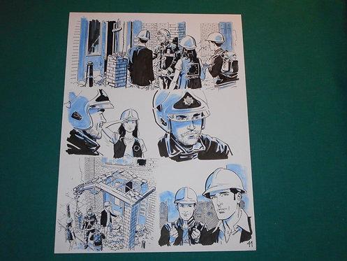 BRUNO BRINDISI Tavola originale # 41 CASCA IL MONDO pubblicata su DYLAN DOG #393