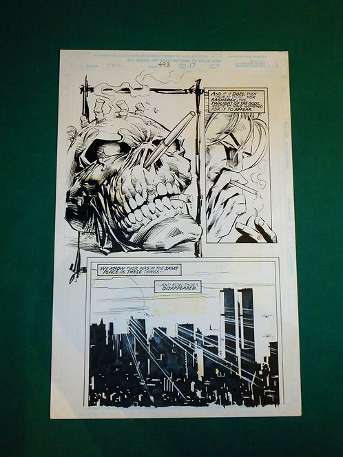 MIKE DEODATO JR. Tavola originale # 17 THOR # 493 Marvel Comics USA 1995
