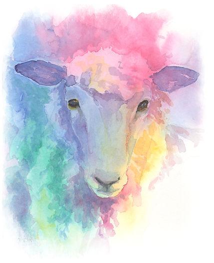 Watercolour Sheep Image