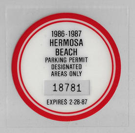 1986 Residential Parking Permit