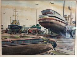 Boats at Dry Dock