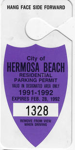 1991 Residential Parking Permit