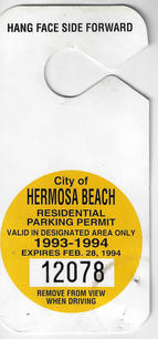 1993 Residential Parking Permit
