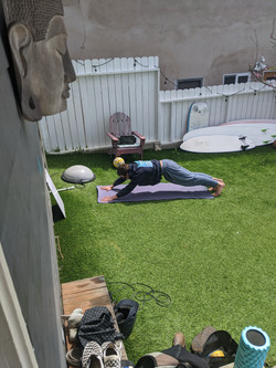 Working out in the Yard