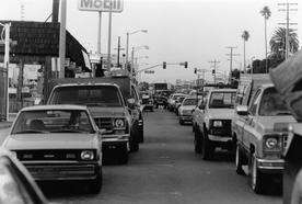 Rush Hour Parking on Pacific Coast Hwy, c. 1990's