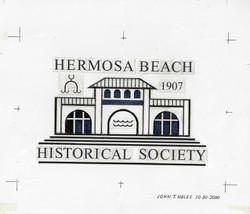 HBHS Logo Pier Pavillion Paste Up Original Art for Repro