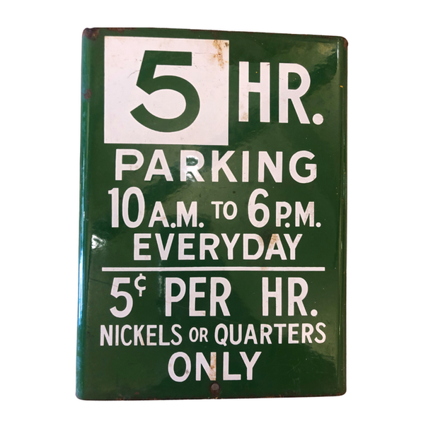 5 Hour Parking Sign