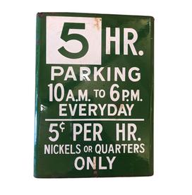 5 Hour Parking Sign