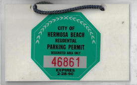 1989 Residential Parking Permit