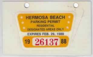 1987 Residential Parking Permit