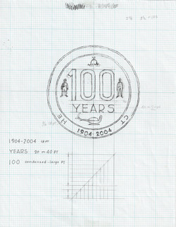 100 Years Logo Rough Draft