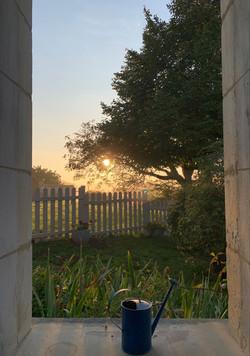 Un lever de soleil d'automne