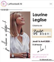 Relation Presse Rêves d'Artisans : Babe is Busy pour L'Effrontée 6.10