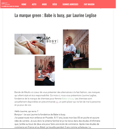 Relation Presse Rêves d'Artisans : Interview Babe is Busy pour Bande de Meufs