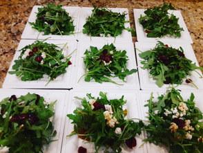 Arugula salad   goat cheese