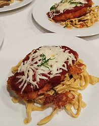 Chicken parm with fresh pasta