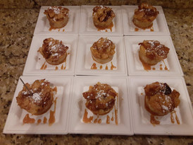 Bread pudding | caramel sauce