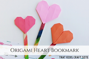 Origami-Heart-Bookmark-Craft-for-Kids-Th