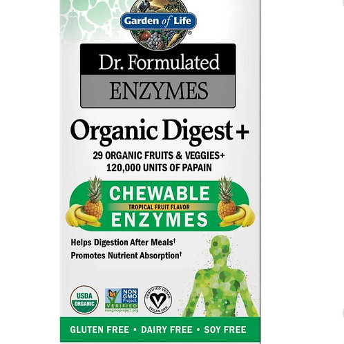 Enzymes Organic Digest- Tropical Fruit - 90 Chewables