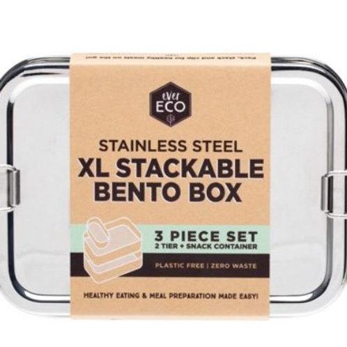 EVER ECO SS XL Stackable 2Tier Bento Box