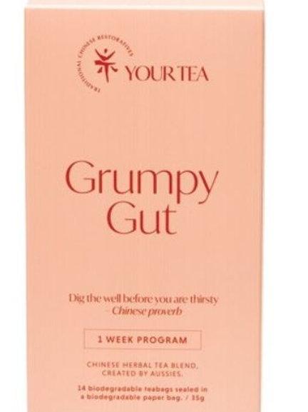 Chinese Herbal Blend - Tea Bags 1 Week Program - Grumpy Gut