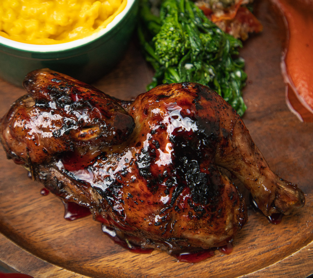Hibiscus Glazed Cornish Hen