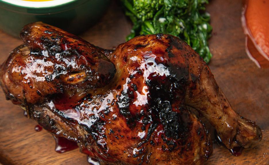 Hibiscus Glazed Cornish Hen