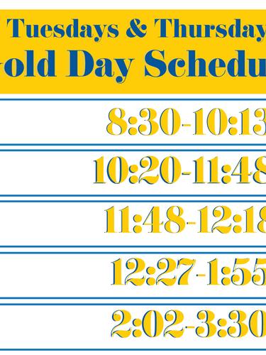 Gold Day Schedule