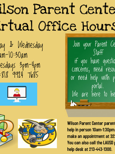 Parent Center Virtual Office Hours