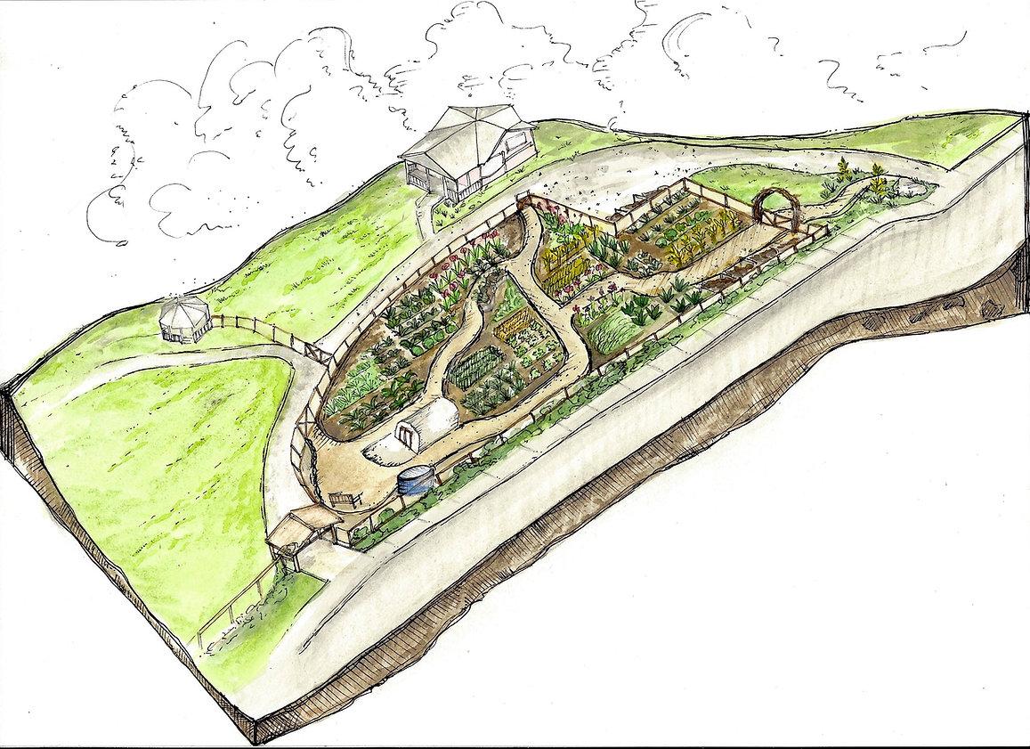 Chuckanut Center Path Concept Rendering.