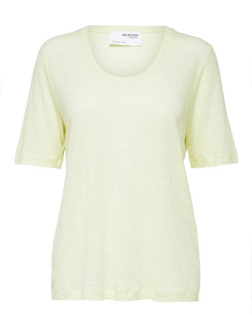 T-shirt Linen Yellow