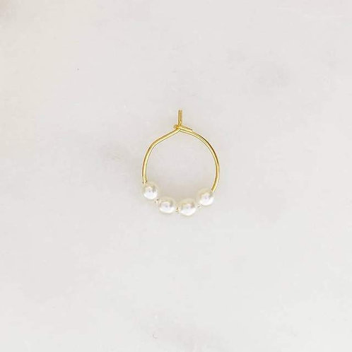 Thin Earring pearls