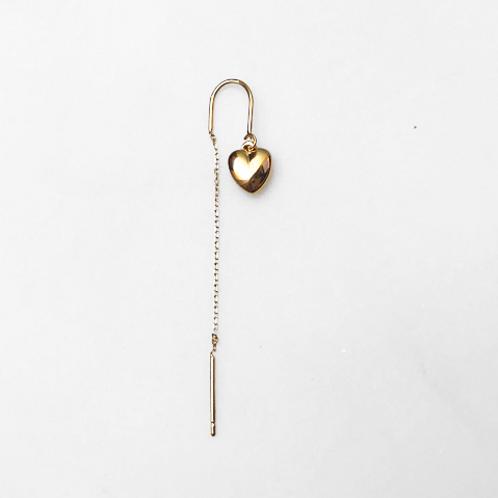 Earring Longchain Heart