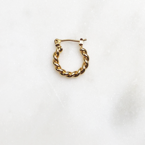 Twisted hoops 1,5cm
